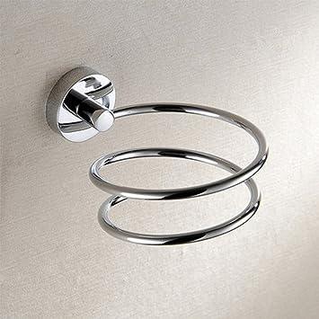 Tookie Soporte de Pared para secador de Pelo, Espiral, Soporte para Salones y baño, Inodoro de Acero Inoxidable: Amazon.es: Hogar