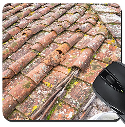 Tuscan Roof Tile (MSD Suqare Mousepad 8x8 Inch Mouse Pads/Mat design 24755031 Tuscan clay roof tiles)