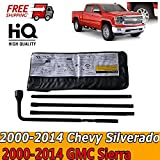 Truck Spare Tire Changing Repair Set Kit for Chevrolet Silverado GMC Sierra 1500 2500 3500 (2000-2014) Lug Wrench Hook Extension Replace Irons with Bag (US Ship)