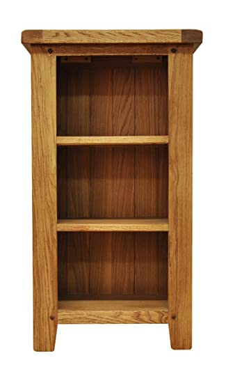 Buxton Oak Small Narrow Bookcase Waxed Finish