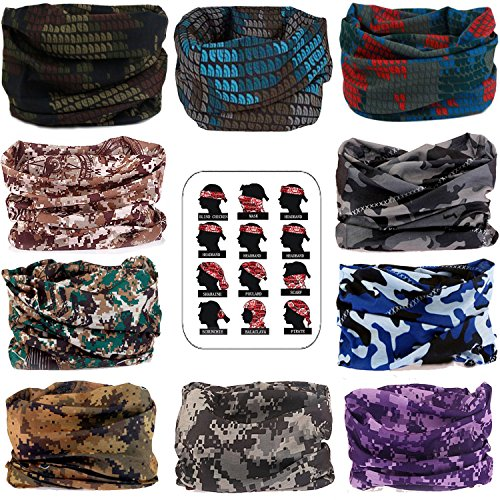 Men's Scarves Energetic Multi Functional Bandana Balaclava Military Camouflage Seamless Magic Kerchief Head Scarf Neck Gaiter Tube Tactical Headband Men Superior Materials