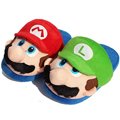 11inch Super Mario Bros Cute Mario and Luigi Slippers Indoor