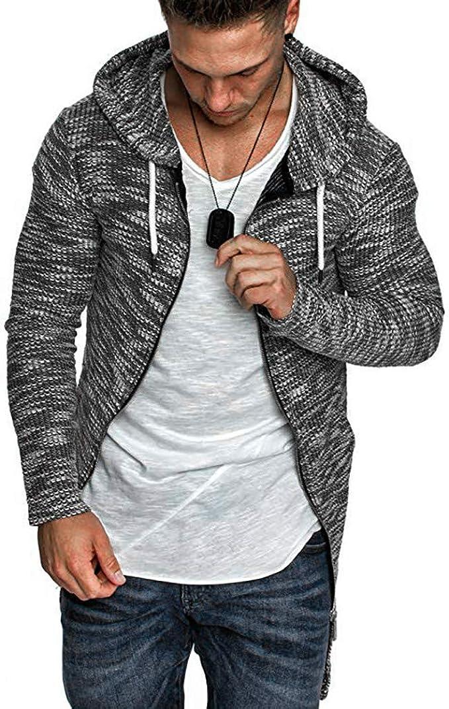 OSTELY Mens Jacket Pocket Zipper Printed Outwear Autumn Winter Stand Collar Sport Outdoor Warm Coat Tops