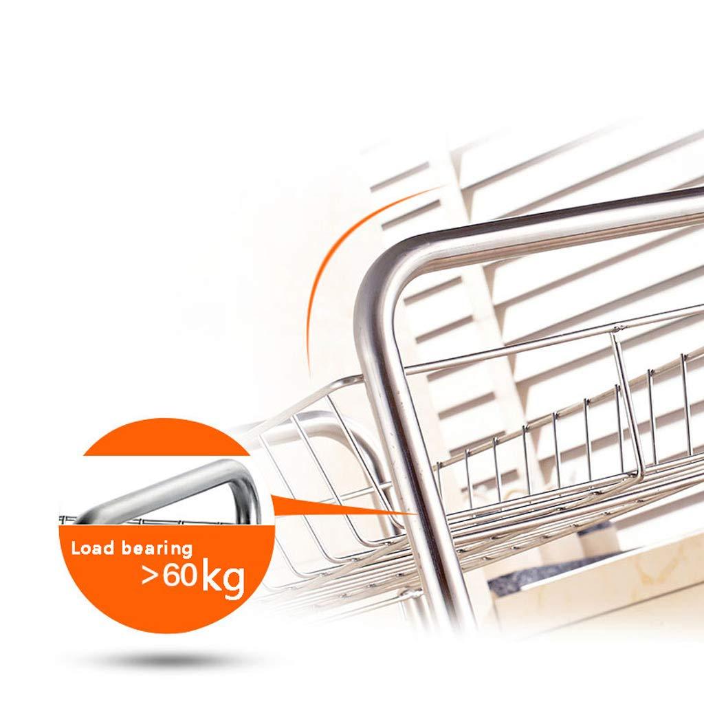 Estante para piso piso piso flotante, estante de almacenamiento de 3 capas, 41   27   57cm (Color : A) 90a1ba