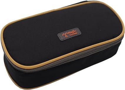 Estuche Rey para lapiceros con gran capacidad, con doble cremallera, color negro.: Amazon.es: Oficina y papelería