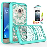 Galaxy J1 2016/Luna/Amp 2/Express 3 Clear Case with HD Screen Protector,AnoKe [Scratch Resistant] Hard Acrylic Transparent Rubber Silicone Hybrid Slim Crytal For Samsung J1 J120M TM Mint