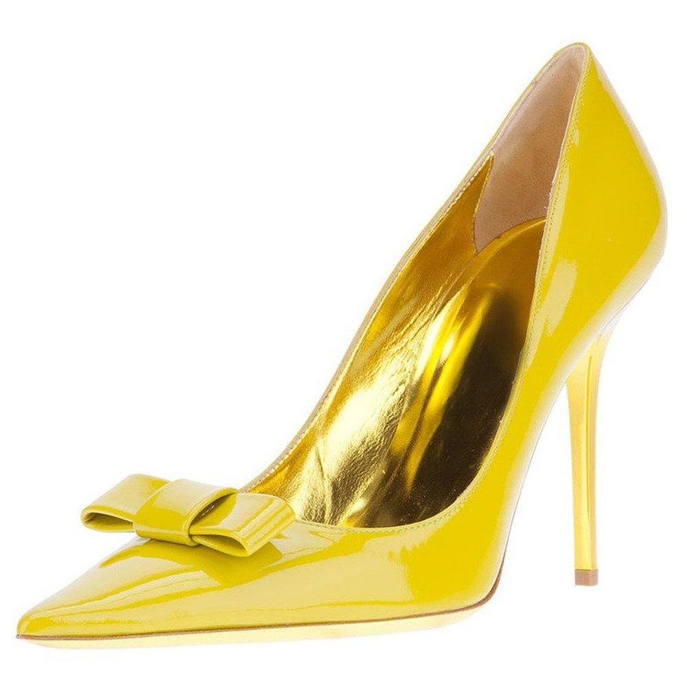 Jushee - Sandalias con cuña mujer 46 EU|Amarillo - amarillo