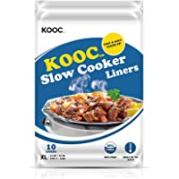 """[NEW] KOOC Premium Disposable Slow Cooker Liners and Cooking Bags, Extra Large Size Fits 6QT to 10QT Crock Pot, 14""""x 22…"""