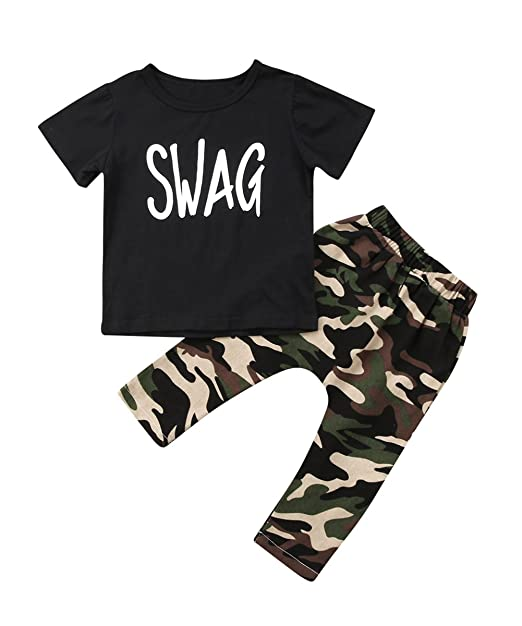 Amazon.com: Ma y para bebé Baby Boy ropa de playera de color ...
