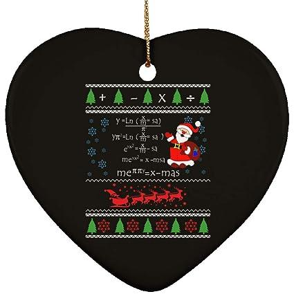 Amazon Com Math Teacher Equations Ceramic Christmas Tree Ornament
