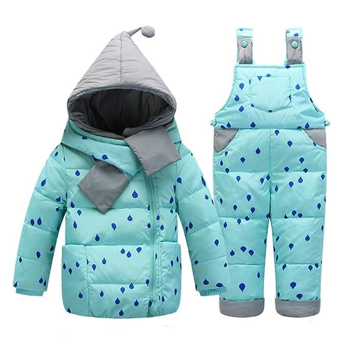 Amazon.com: Baby Girls Down Snowsuit chamarra con la nieve ...