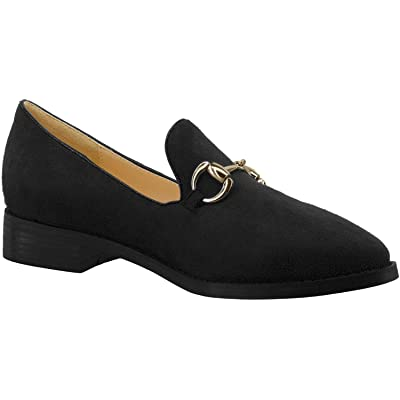 ANN CREEK Women's 'Chester' Pointed Toe Low Heels Buckle Loafers | Loafers & Slip-Ons