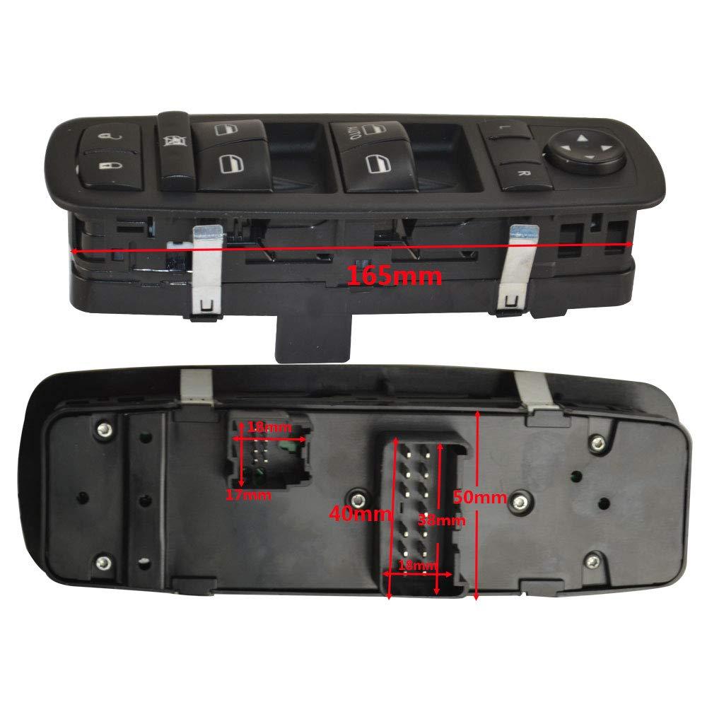 FLYPIG FL Driver Side Master Power Window Switch Fit Dodge Nitro Dodge Journey Jeep Liberty 4602632AG 4602632AH 4602632AF 4602632AD 4602632AC 04602632AG 04602632AH 04602632AF 04602632AD 04602632AC