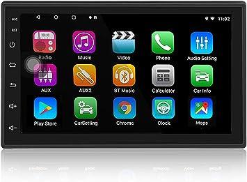 LEXXSON Android 8.1 Car Stereo 2 DIN Radio de navegación GPS con Bluetooth Pantalla táctil de 7 Pulgadas Reproductor Multimedia Soporte Enlace Espejo ...