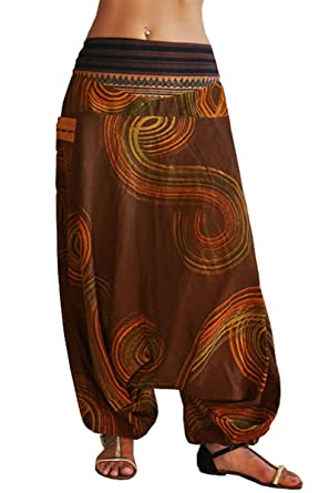 virblatt Haremshose mit traditionellen Webereien UNISEX Einheitsgröße S - L  Aladinhose mit handgemaltem Muster alternative Kleidung 9952bd9fd3