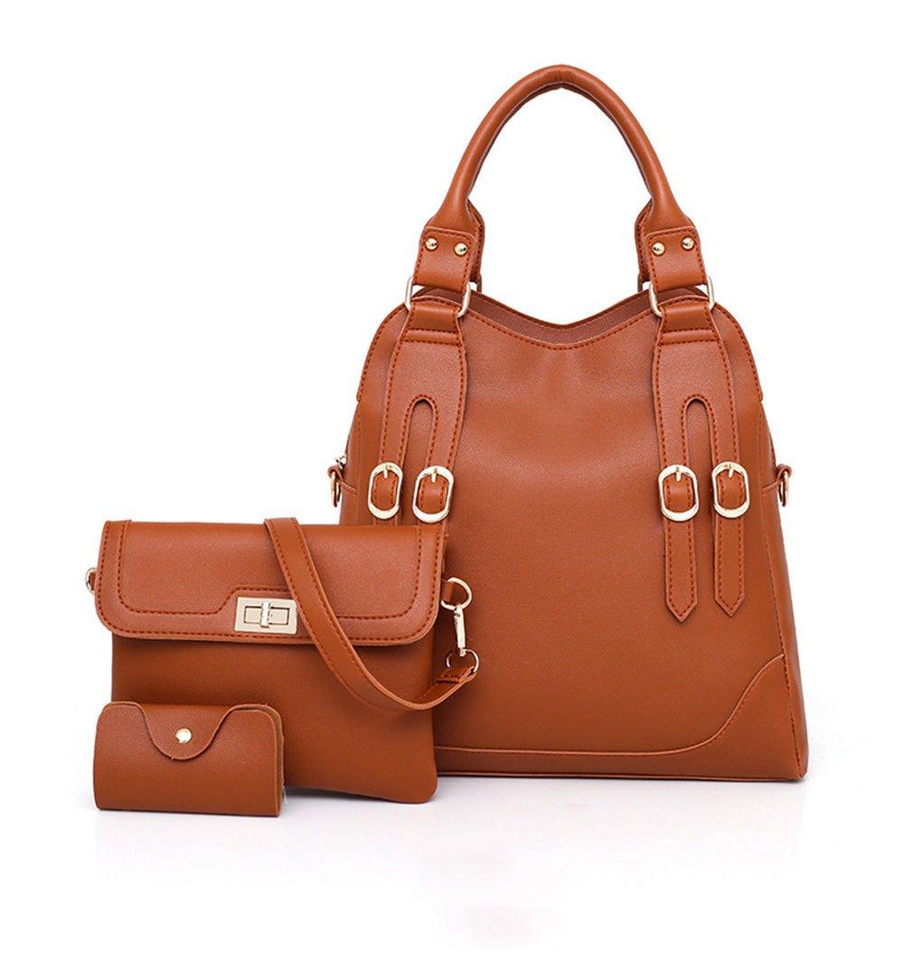 New Handbag For Women'S Bag,Brown,Three Piece Set