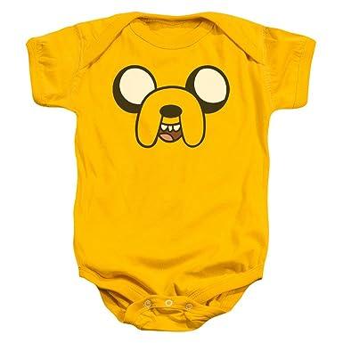 84efe8964651 Amazon.com  Adventure Time - Jake Head Baby Onesie  Clothing