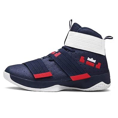 Männer Sport Sneakers Profi-Basketball Schuhe AtmungsAktive  Luft-Zoom-Kissen Haken Schleife männliche 30922fb667