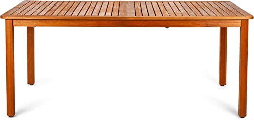 Chillvert 50021001170156 - Mesa extensible Hawksworth madera eucalipto y aluminio 180-240 x 100 x 75 cm: Amazon.es: Jardín