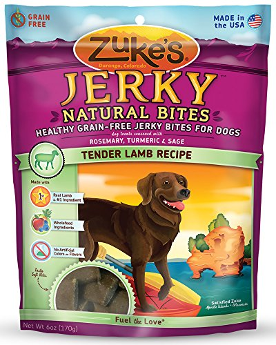 Zuke s Jerky Natural Bites Dog Treats, Tender Lamb…