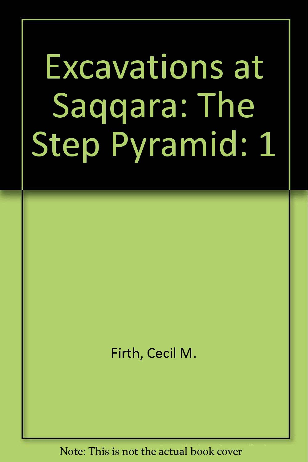 Excavations At Saqqara The Step Pyramid 1 Amazon Es Cecil M  # Saqqara Muebles Y Decoracion