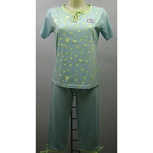PIJAMAS mujer arana de CAPRI pijamas mujer N77215 PIJAMA t. 50 CELESTE HEART