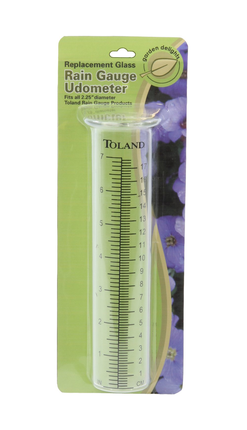Toland Home Garden Clear Rain Gauge Udometer 227200 Decorative Replacement Glass Tube with Large Printed Numbers