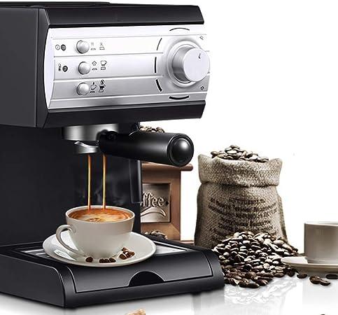 Máquina de Café Espresso, Cafetera Semiautomática de Cápsulas con Boquilla de Vapor, Extracción a Alta Presión de 20 Bares, 2 Termostatos Independientes, 3 Sistemas de Protección (850 W): Amazon.es: Hogar