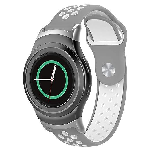 Hombre Mujer Reloj Banda De Reloj Deportivo Adaptador De Silicona para Samsung Gear S2 Sm-R720 / Sm-R737 con: Amazon.es: Relojes