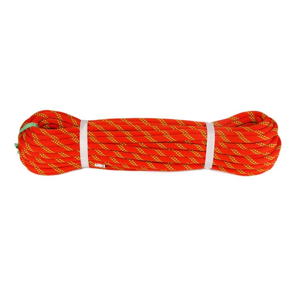 Orange DLYDSS Corde d'escalade, Corde De Sécurité, 10,5 MM, Résistant à l'usure, Sauvetage, Travail Aérien, Chute Rapide 100m