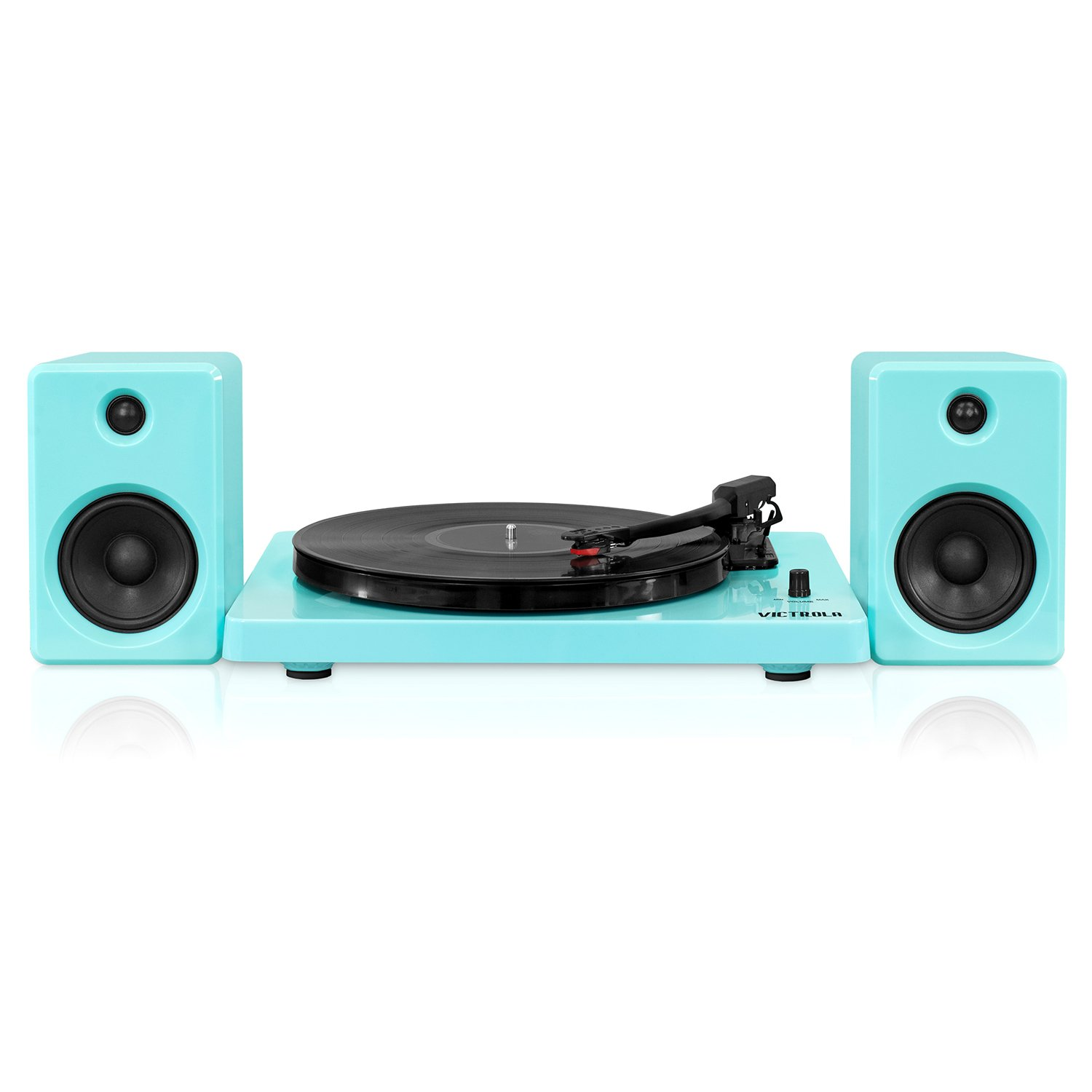 Victrola Modern 3-Speed Bluetooth Turntable with 50 Watt Speakers, White Piano Finish Innovative Technology ITUT-420 White