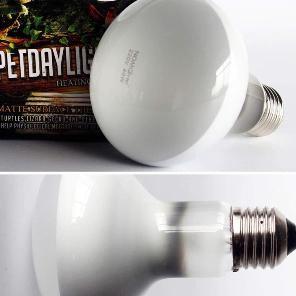 Mondeer 1pc Reptile Heating Lamp Full Spectrum UVA Uvb Sunlamps para Mascotas Reptiles 50W