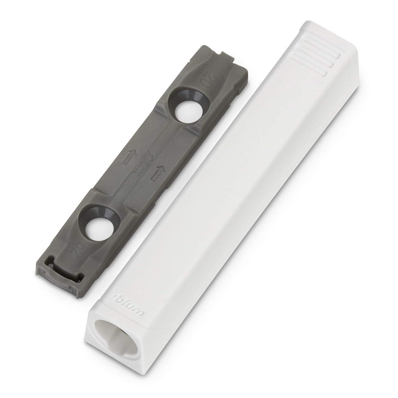 Blum Tip-On Langversion Seidenwei/ß mit Puffer 956A1006 f/ür Scharnier mit Feder Druckschn/äpper Push to Open von SO-TECH/®