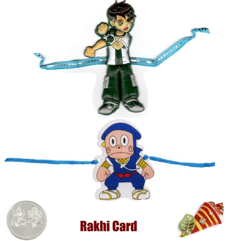Amazon.com : Guaranteed Delivery Kids Rakhi Set of 2 ...