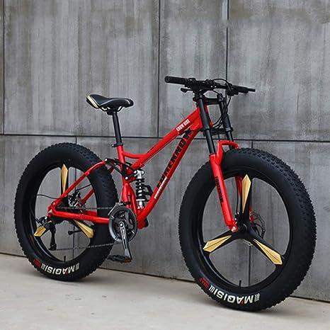 LNDDP Bicicletas montaña, Bicicleta montaña rígida Fat Tire 26 ...