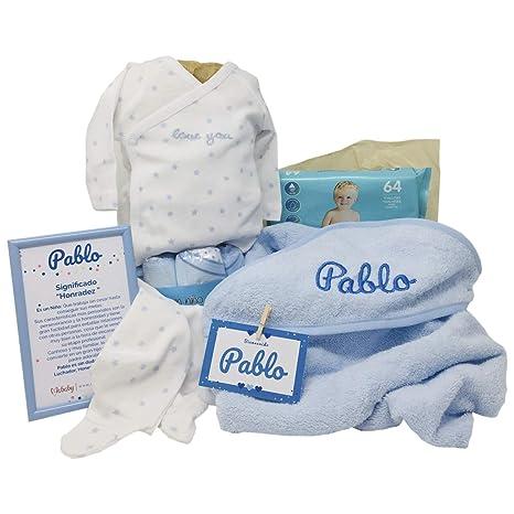 Canastilla Bebe Amazon.Mabybox Dulces Suenos Canastilla Bebe Personalizada Cesta Regalo Recien Nacido Azul