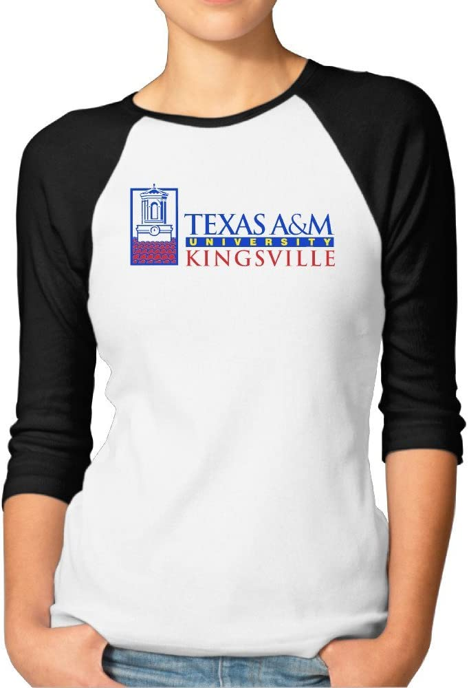 kongyii Lady Texas A & M University KINGSVILLE Logo Slim Fit 3/4 Camiseta de manga - negro - S: Amazon.es: Libros