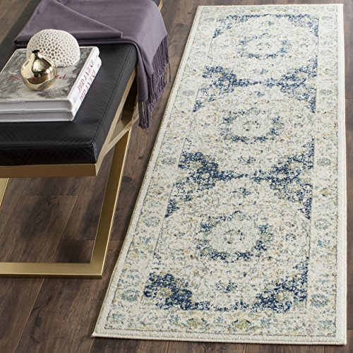 Safavieh Evoke Collection EVK220C Vintage Oriental Ivory and Blue Runner (2'2″ x 7′)