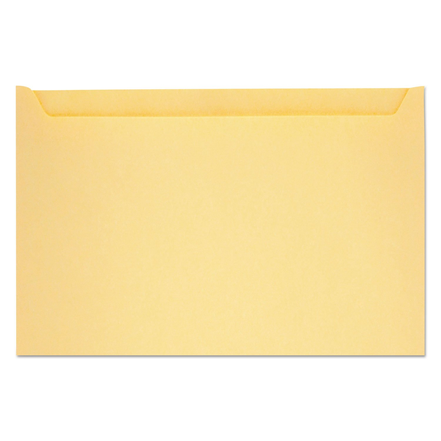 Paper File Jackets, 5'' x 8 1/8'', 28 lb Manila, Buff, 500/Box