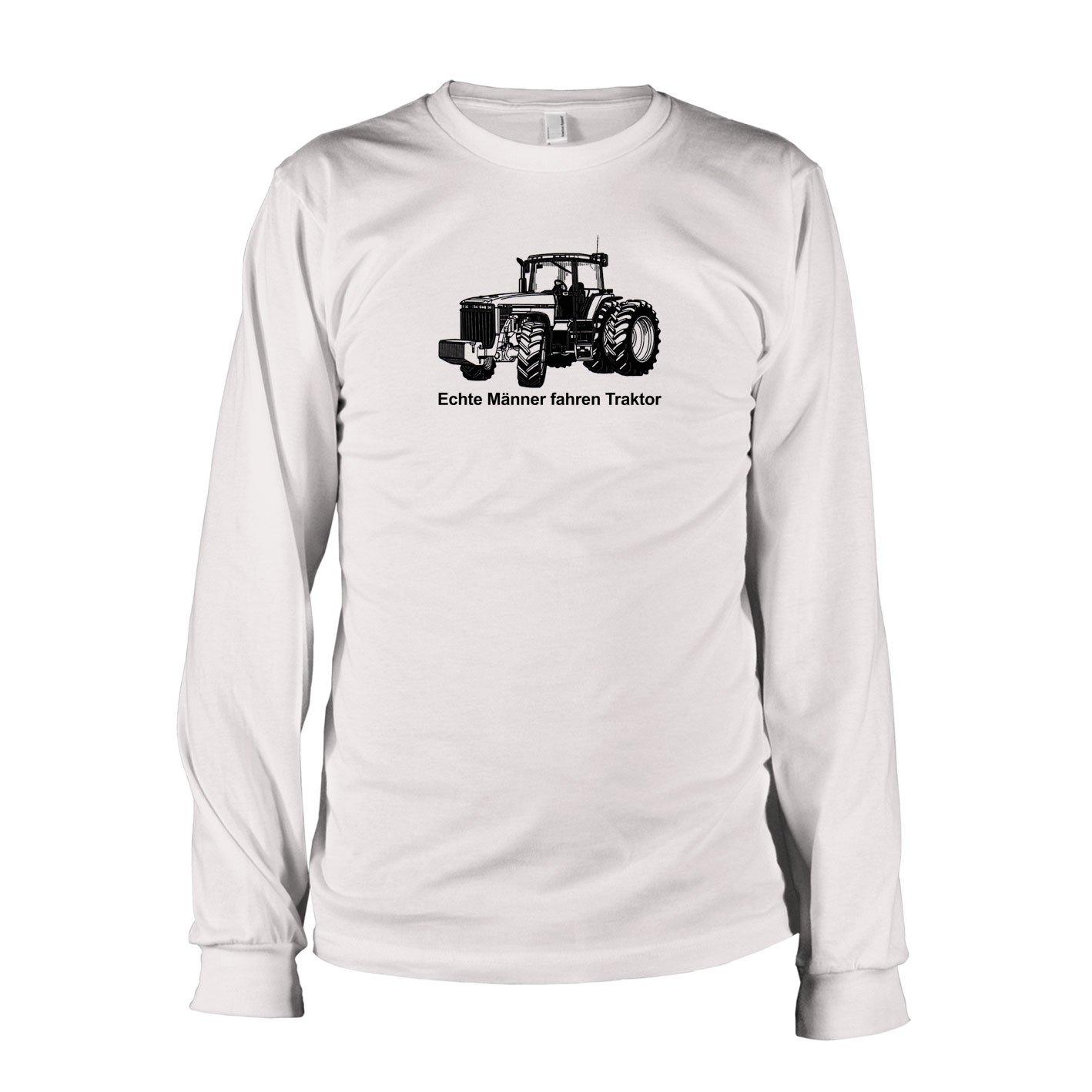 TEXLAB - Echte Männer fahren Traktor - Langarm T-Shirt: Amazon.de:  Bekleidung