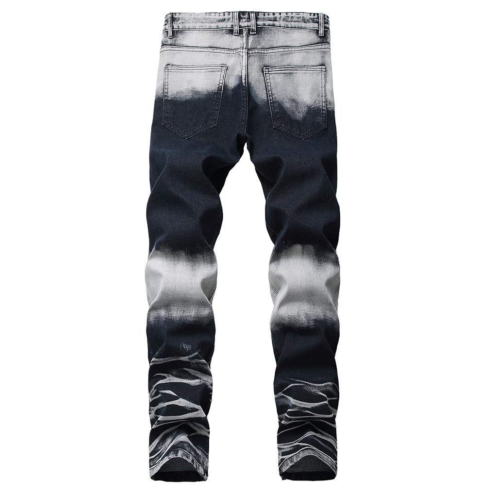 Coohole-Summer Men's Stretchy Ripped Skinny Biker Jeans Destroyed Taped Slim Fit Denim Pants by Coohole-Summer (Image #2)