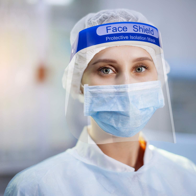 DEPOT TRESOR Visera Protectora Anti Gotita Seguridad Visera Transparente Cubierta Antiniebla Protección Ocular y Facial para Cocina Laboratorio Aire Libre (5)
