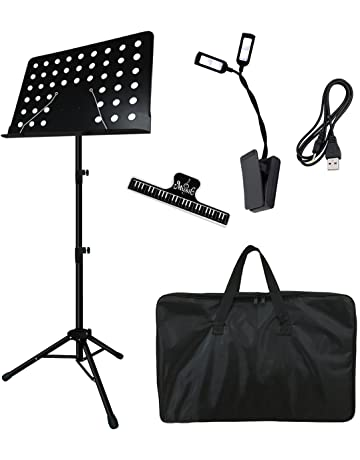 cd4e8cbd3 Music Stand, Kasonic Professional Collapsible Music Stand for Music Sheet,  Instrument Books with LED