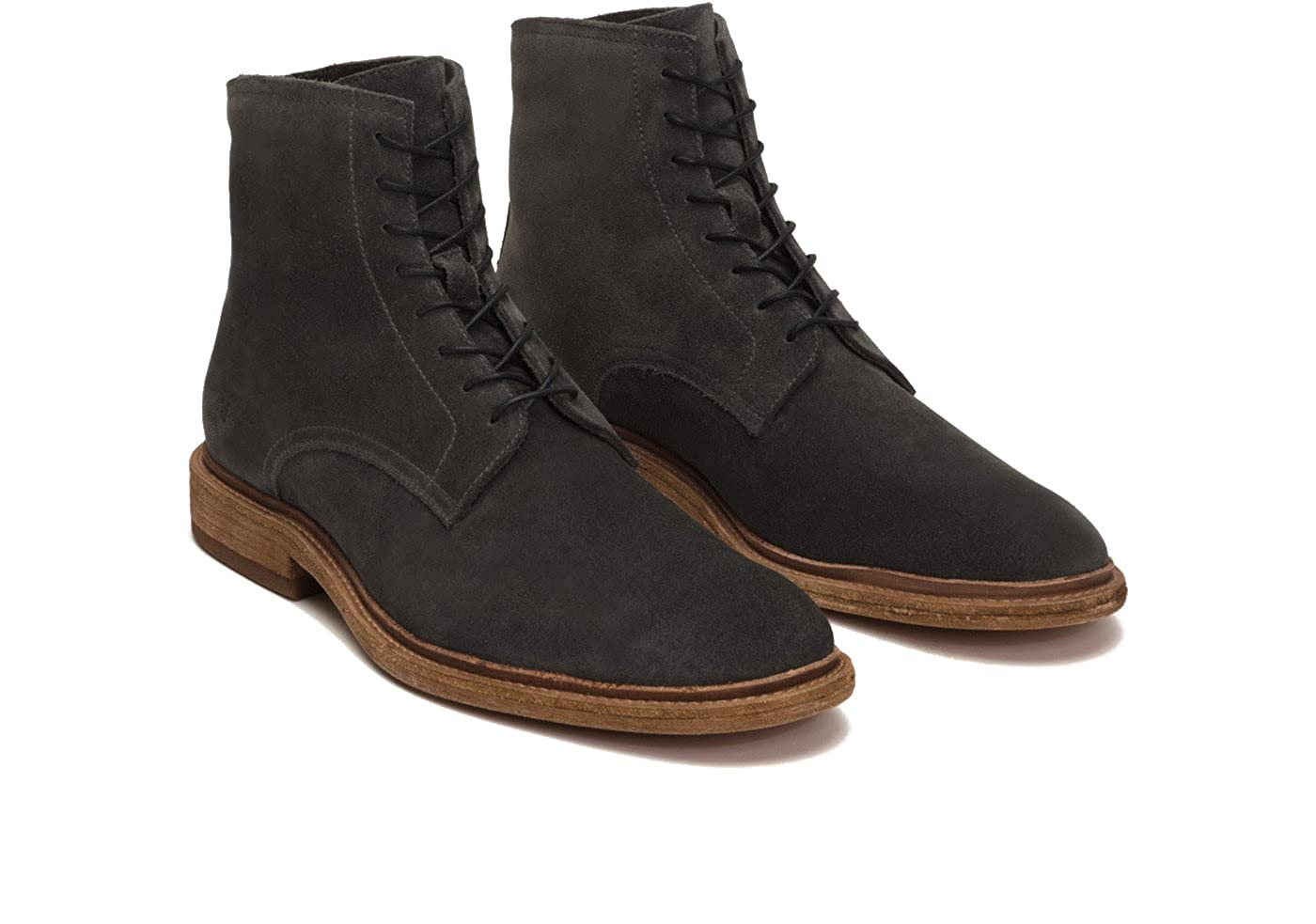 FRYE FRYEChris Lace Up - Chris agujetas hombres Slate Oiled Suede