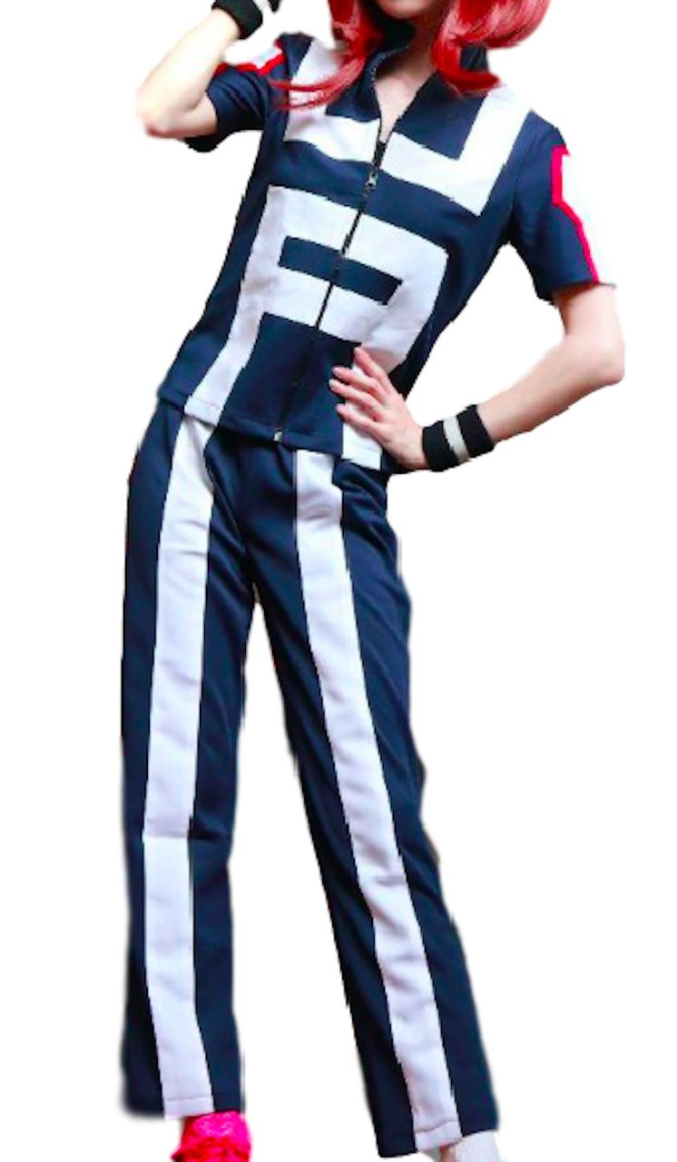 P-LINK Women's Hero Academia Gymnastics Uniforms Cosplay Costume Training Suit (L)