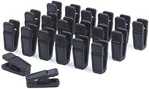 Black Huggable Hangers Finger Clips Huggable Ultra Slim Line Finger Clips Set of 20