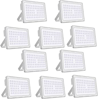 Viugreum 10 Pack 200W Focos Led IP66 Impermeable 24000LM LED ...