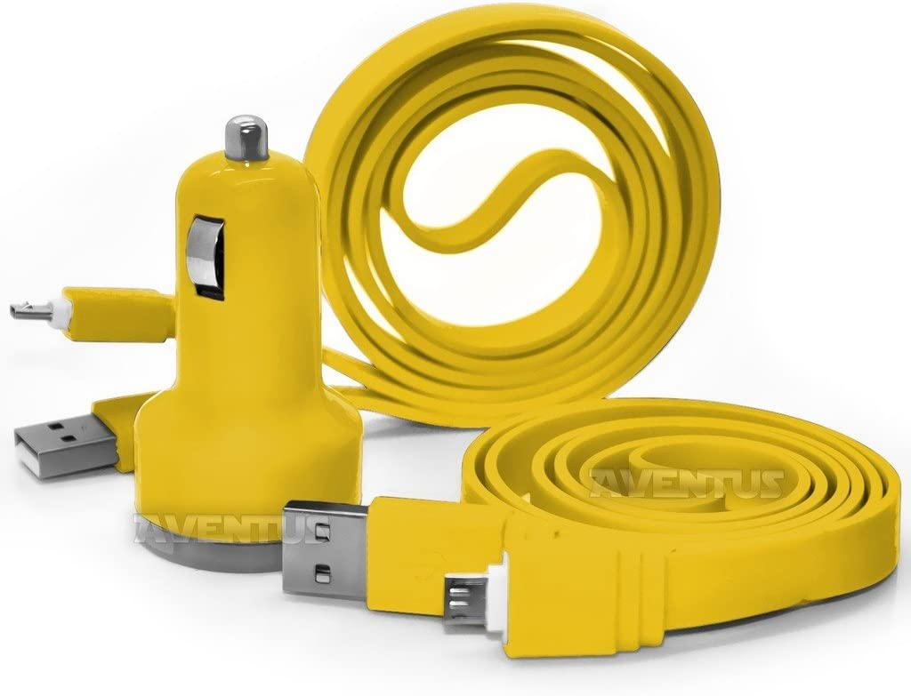 Aventus Micromax Yunique Plus Giallo Doppia Porta USB Mini