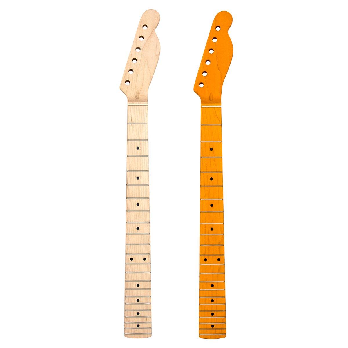 2pcs Electric Guitar Neck Replacement Maple 22 Fret