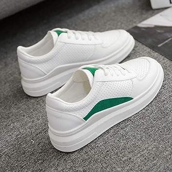YSFU zapatillas Zapatillas De Deporte De Mujer Zapatillas Blancas Plataforma Casual De Mujer Zapatillas Deportivas para Mujer con Suave Suave Estudiante En ...